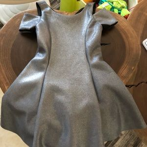 Zoe Ltd silver girls dress size 7